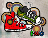 Coloring page Sneakers painted bylizz