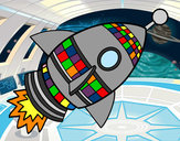 Coloring page Space Rocket painted byGemma