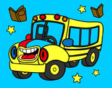 Coloring page Animated bus painted bySheriff