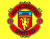 Coloring page Manchester United FC crest painted bymatty