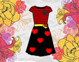 Coloring page Casual dress painted byburbulitis