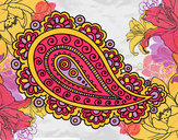 Coloring page Mandala teardrop painted byEmily4444