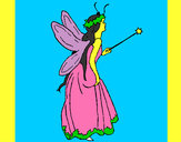 Coloring page Fairy with long hair painted bypakhi