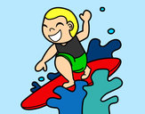 Coloring page Surfing painted byBigricxi