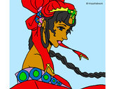 Coloring page Chinese princess painted bymade12