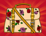 Coloring page Flowered handbag painted bymade12