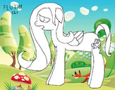 Coloring page Flutter shy painted byK-BRONY