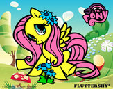 Coloring page Fluttershy painted byK-BRONY