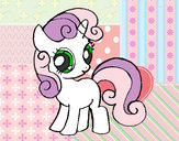 Coloring page Sweetie belle painted byK-BRONY