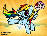 Coloring page Rainbow Dash painted bygiovanna
