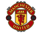 Coloring page Manchester United FC crest painted byStriker
