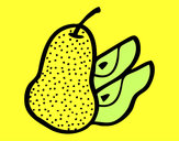 Coloring page Pear cut painted byNate