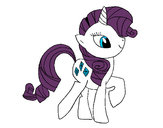 Coloring page Rarity painted byjohn247
