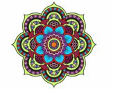 Coloring page Mandala oriental flower painted bynessab82
