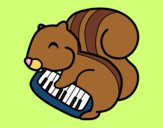 Coloring page Squirrel pianist painted byShelbyGee