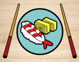 Coloring page Plate of Sushi painted bybarbie_kil