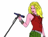 Coloring page Shakira in concert painted byredhairkid