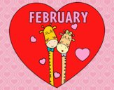 Coloring page February painted bybarbie_kil