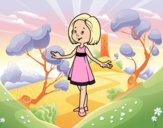 Coloring page Girl with summer dress painted byShelbyGee