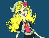 Coloring page Monster High Lagoona Blue painted byShelbyGee