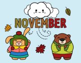 Coloring page November painted bybarbie_kil