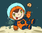 Coloring page Astronaut boy painted bybarbie_kil