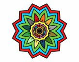 Coloring page Flower mandala of sunflower painted byredhairkid