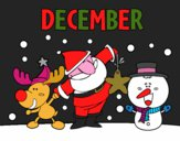 Coloring page December painted byredhairkid