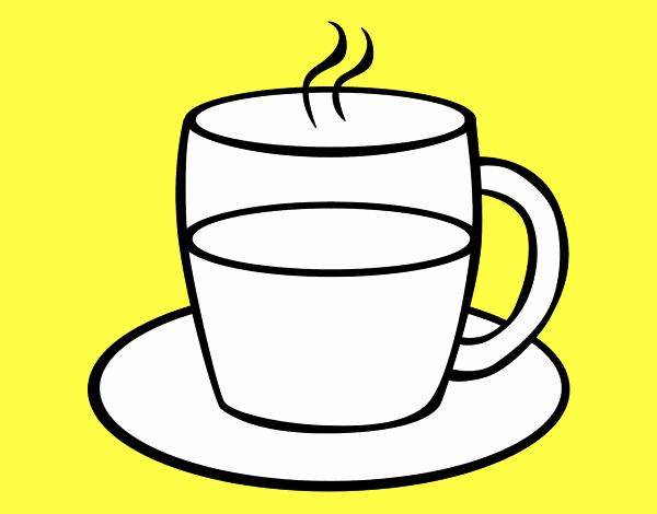 чашка чая раскраска ней был топ