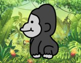 Coloring page Baby gorilla painted bySavannah_M