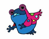 Coloring page A toad painted byjody