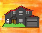 Coloring page Detached house painted byCubeGames