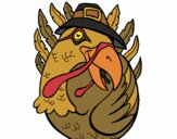 Coloring page Pilgrim turkey painted byCazzi2o15