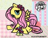 Coloring page Fluttershy painted bybella