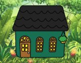 Coloring page House of fairy tale painted byCharlotte