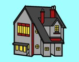 Coloring page Single-family house painted bypinkrose
