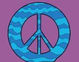 Coloring page Peace symbol painted byCharlotte