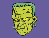 Coloring page Frankenstein face painted byKArenLee