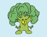 Coloring page Mr. broccoli painted byKArenLee