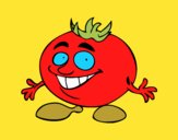 Coloring page Mr. Tomato painted byKArenLee