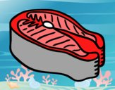 Coloring page Tuna Steak painted byvaishu