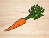 Coloring page Organic carrot painted bybarbie_kil