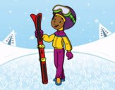Coloring page Ski painted bybarbie_kil