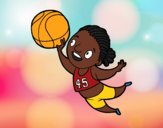 Coloring page Volleyball player painted bybarbie_kil