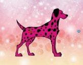 Coloring page Male dalmatian painted byGramanana4