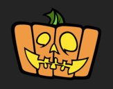 Coloring page Cheerful pumpkin painted byJijicream