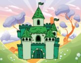 Coloring page Fantasy castle painted byJijicream