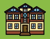Coloring page Houses painted byJijicream