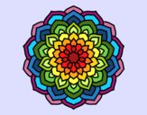 Coloring page Mandala flower petals painted byTaylor