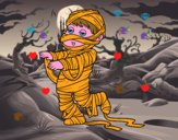 Coloring page Child dressed as a mummy painted byElsie-may